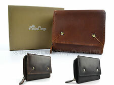 NEW Compact Ladies Leather Flap Over Purse/Wallet by Bolla Bags Gift Boxed Handy