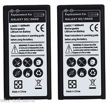 2 Replacement High Capacity Internal battery for Samsung Galaxy s s5 sV phone