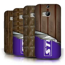 STUFF4 Phone Case/Back Cover for HTC One/1 M8 /Chocolate