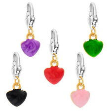 Wholesale DIY Jewelry Mixed Enamel Heart Clip On Charm Fit Chain Bracelet