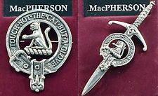 MacPherson Scottish Clan Crest Badge or Kilt Pin Ships free in US