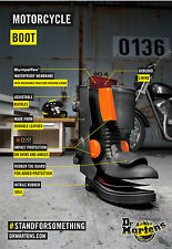 TRADITIONAL DR MARTENS GARRICK RETRO CLASSIC CHIC STYLED MOTORCYCLE LONG BOOT