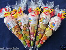 Personalised pre filled Lego bricks 75g sweet cones/party bag fillers/stocking