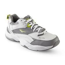 Mens Everlast Sport Louis Grey/White/Lime Lace-Up Leather Athletic Shoe