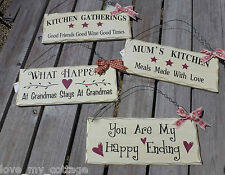 Shabby Chic Retro Hanging Friends Phrase Door Sign Plaque East of India Ribbon
