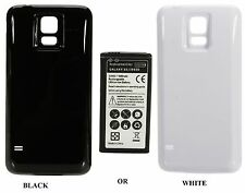 Extended High Capacity Replacement Battery with back cover for samsung galaxy s5