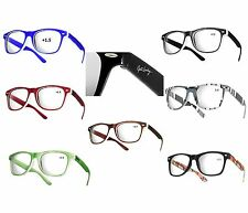 NEW RUBBI WAYFARER +1.5 READING GLASSES WOMENS MENS TRANDY Eyeglasses few colors