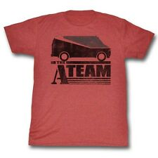 A-Team 80s Crime Action TV Show Vintage Style Two Tone Van Adult Heather T-Shirt