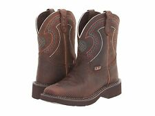 JUSTIN GYPSY LADIES BARNWOOD BROWM COWBOY BOOTS! L9997~SQUARE TOE