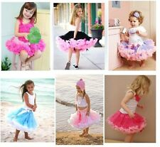 HOT Princess Girl Toddler Baby Fluffy Pettiskirt Tutu Skirt Party Dancewear 2-8T