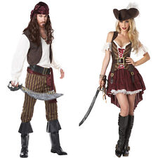 Somali Pirates Rogue Couples Halloween Costumes Men Women Hat Belt Slim Fashion