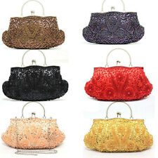 Vintage New Women's Beaded Handbag Wedding Party Prom Clutch Purse Evening Bag
