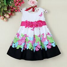 Girls Printed Girl Flower Party Dress