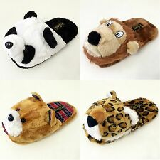 Women's Animal House Slippers Plush Fuzzy Cushion Cozy Bedroom Shoes S, M, L, XL
