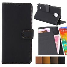 Wallet Folio Case W/ Credit Card Slots + Stand Feature For Samsung Galaxy Note 4