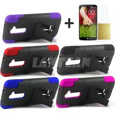 Lantean Hybrid Armor Phone T-Stand Case for For LG Optimus G2 D801 D802