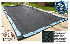 NEW Arctic Armor Rugged Mesh Rectangular In Ground Pool Winter Covers All Sizes!