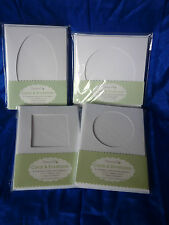 Dovecraft Window (Aperture) Cards with Envelopes - Packs of 10 - Various shapes