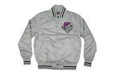 Pink Dolphin Mens Waves Satin Jacket in Grey NWT Size S-XXXL Free Shipping