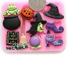 Silicone Fondant Cake Mold Chocolate Halloween Pumpkin Magic Shoes Witch New Kid
