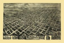 Panoramic Maps - CORDELE GEORGIA PANORAMIC - FOWLER & DOWNS 1908