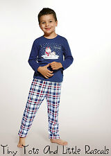 Boys Toddler Kids 100% Cotton Pyjama Set Christmas Gift Sizes 1.5 - 8 years!