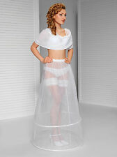 White new wedding bridal hoop skirt, 2 hoops, petticoat 8-14