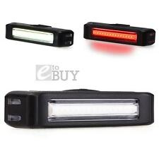 Bicycle Bike Cycling Front White/Rear Red usb rechargeable LED light 6 Modes