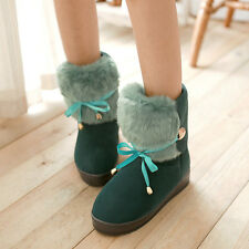 Hot Womens Boots New Fashion Winter Warm Cute Bowknot Ankle Snow Shoes cheap