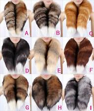 men women real fox tail fur scarf shawl stole Scarves collar