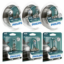 PHILIPS XTREME VISION +130% HEADLIGHT BULBS H1 H4 H7 FITTINGS HERE (SINGLE/TWIN)