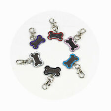 DIY Dog Cat ID Tag Bone Shaped Cute Stainless Collar Charm Pet Dog Supplies