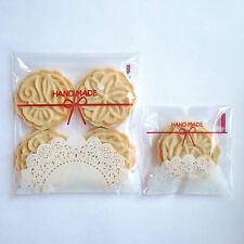 Lace Pattern Cookies Biscuit Chocolate Sweets Home Hand Made Plastic Bags