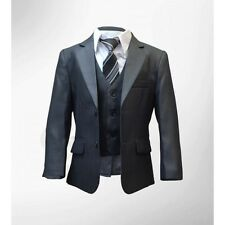 Page Boys Dark Grey 5 PIECE Formal Suit Wedding Prom Page Boy Suits by Milano