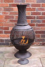 Steel Chimenea Chiminea Patio Heater Fire Pit Garden Incinerator Brazier