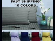 ELEGANT COMFORT 1500 Thread Count Damask Stripe  Sheet Set ALL SIZE ALL COLORS