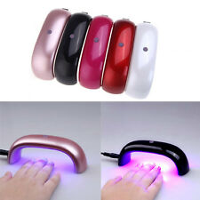 6W 100-240V Mini Nail Art Gel Curing LED UV Lamp Dryer Bridge Shape EU plug