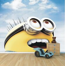 Minion wallpaper mural style 1 childrens bedroom feature wall design