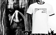 Rob Zombie Retro T Shirt Ringer Tee Music Rock Band Tour Mens Top All Size New