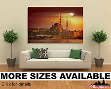 Wall Art Canvas Picture Print - Mosque in Sunset Istanbul Turkey 3.2