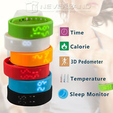 Smart Watch Pedometer Step Walking Distance Calorie Counter Sport Tracker Rate