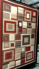 Large Abstract Contemporary Geometric  Area Rug Modern Carpet