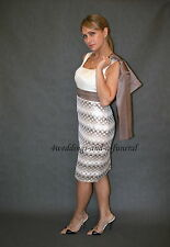 Pre-Order Mother Of The Bride 2 Piece Outfit Dress Jacket Cappuccino 6th October