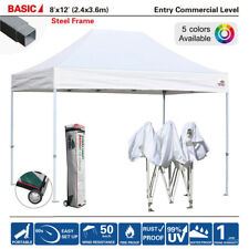 New Waterproof 8x12 Commercial Canopy Ez Pop Up Sports Instant Tent +Wheeled Bag