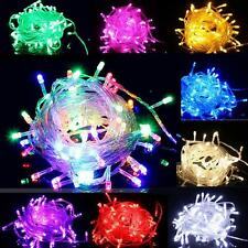 10M 100 LED Bulbs Christmas Tree Fairy Party String Lights Waterproof Xmas Decor