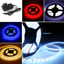 Ultra Bright 5M SMD 3528 LED Strip Tape Ribbon Tape Roll Rope Light Lamp+Adapter
