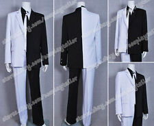 Batman Movie Costume Man Two-Face Uniform Suit Black White Outfits Great Made