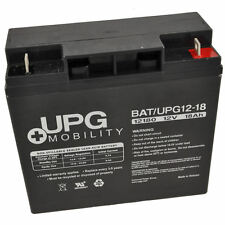 12V 18Ah UPG Sealed Lead Acid (AGM) Mobility Scooter Battery (UB12180)