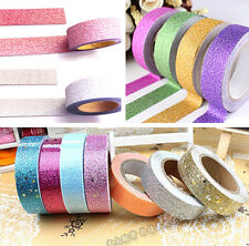 5m Craft Glitter Washi Tape Book Decor DIY Scrapbooking Adhesive Paper Sticker
