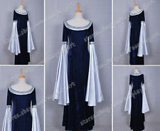 The Lord of the Rings Cosplay Arwen Blue Dress Costume Made of Velvet For Party